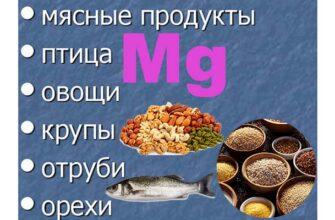 продукты богатые магнием