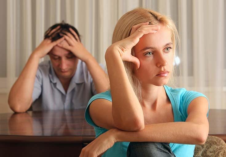 жена поругалась с мужем
