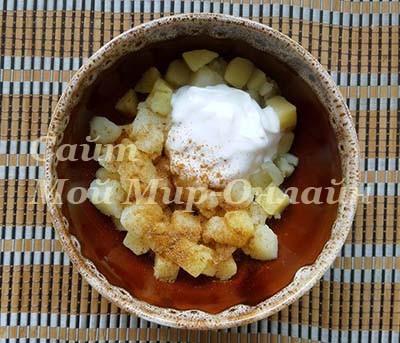 Отварной картофель кубиками с приправой