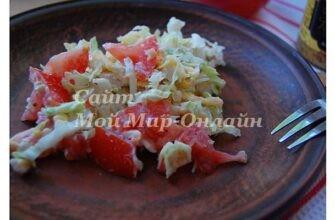 Салат с овощами и твердым сыром