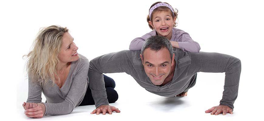 Занятие спортом всей семьёй