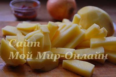 нарезаный картофель