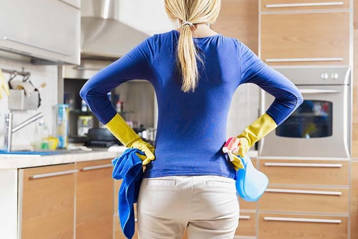 как отмыть жир на кухне