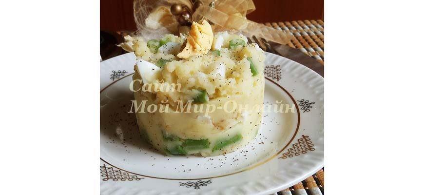 Картофельный гарнир со стручковой фасолью