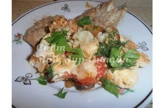 Омлет с цветной капустой и овощами