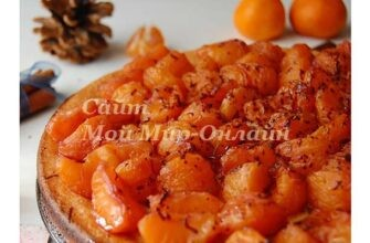 Творожная запеканка с пряными мандаринами