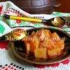 Картошка с ветчиной в горшочке