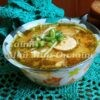 Суп-лапша с гренками на курином бульоне